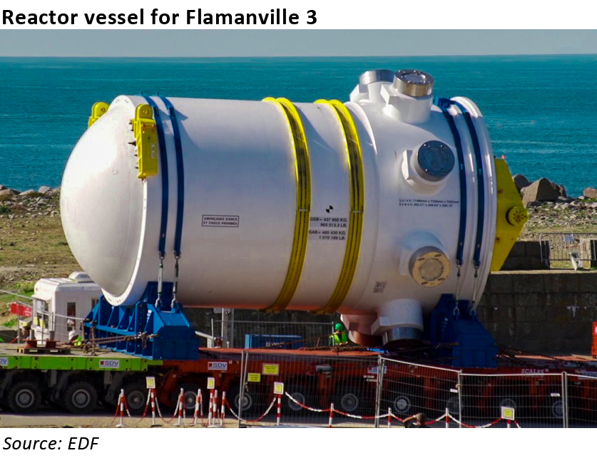new nuclear: flamanville pressure vessel
